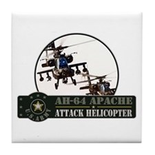 AH-64 Apache Helicopter Tile Coaster