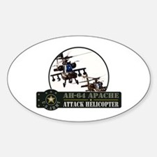 AH-64 Apache Helicopter Oval Decal
