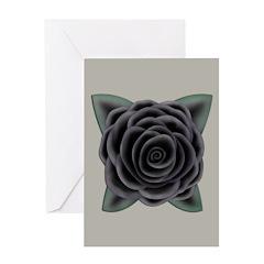 Large Black Rose Greeting Card