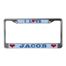 I Love Jacob License Plate Frame