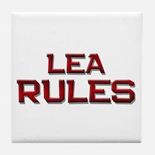 lea rules Tile Coaster