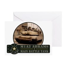 M1 A2 Abrams Tank Greeting Card
