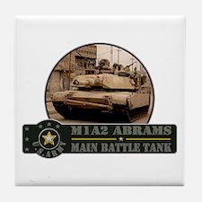 M1 A2 Abrams Tank Tile Coaster