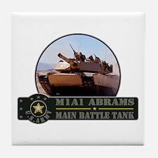 M1A1 Abrams Tank Tile Coaster