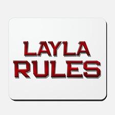 layla rules Mousepad