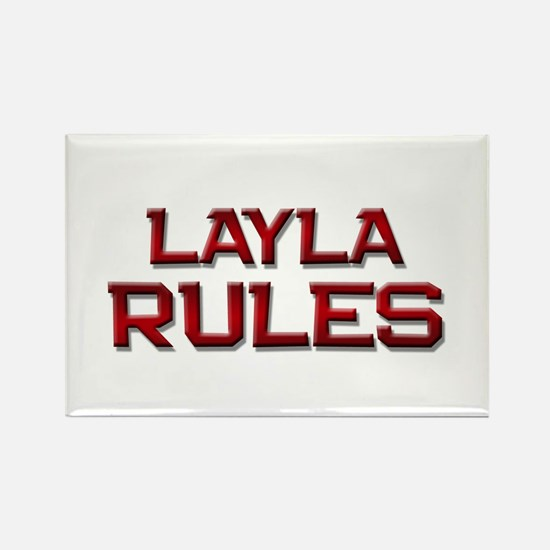 layla rules Rectangle Magnet