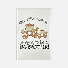 big brother t-shirts monkey Rectangle Magnet