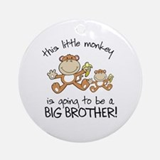 big brother t-shirts monkey Ornament (Round)