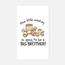 big brother t-shirts monkey Rectangle Decal