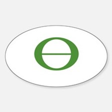 Earth Day Symbol Ecology Symb Oval Decal