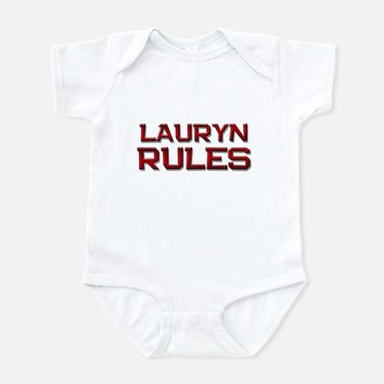 lauryn rules Infant Bodysuit