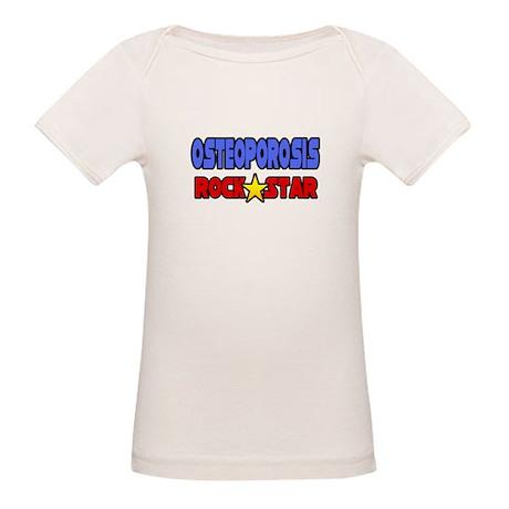 """Osteoporosis Rock Star"" Organic Baby T-Shirt"