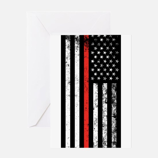 Firefighter Flag Greeting Cards