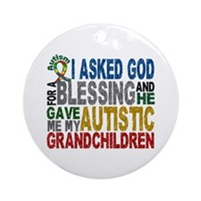 Blessing 5 Autistic Grandchildren Ornament (Round)