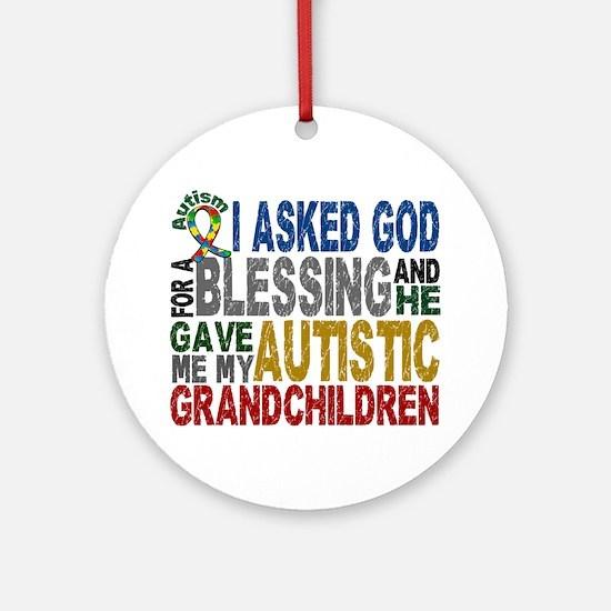 Blessing 5 Autistic Grandchildren Ornament (Round)