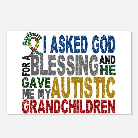 Blessing 5 Autistic Grandchildren Postcards (Packa