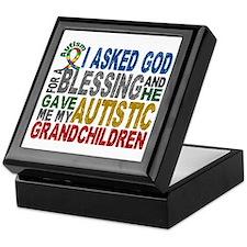 Blessing 5 Autistic Grandchildren Keepsake Box