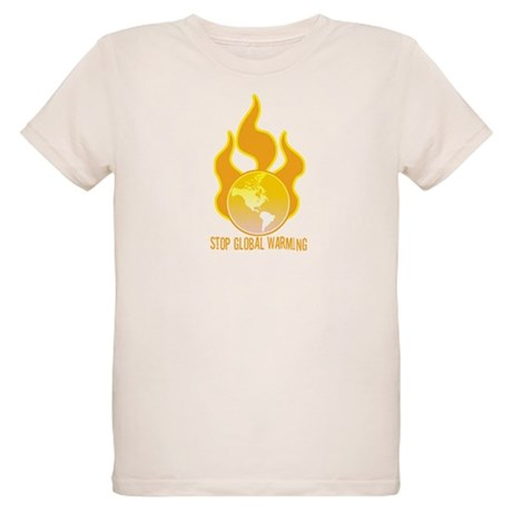 Stop Global Warming Organic Kids T-Shirt