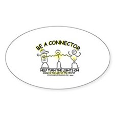 Be a Connector Oval Decal