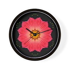 Dahlia Hybrid I Wall Clock