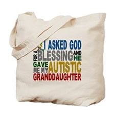 Blessing 5 Autistic Granddaughter Tote Bag
