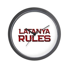 latanya rules Wall Clock