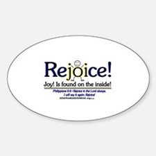 REJOICE! Oval Decal