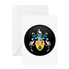 Coat of Arms of Turks and Ca Greeting Card