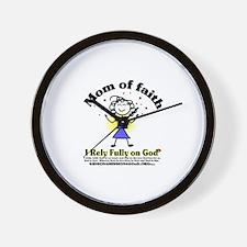 Mom of Faith Wall Clock