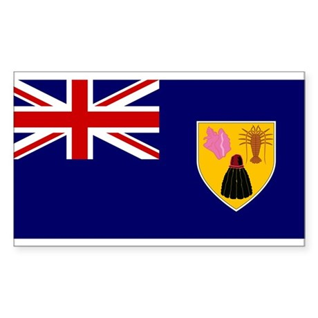 Turks and Caicos Islands Fla Rectangle Sticker 50