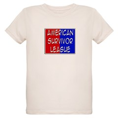 'American Survivor League' Organic Kids T-Shirt