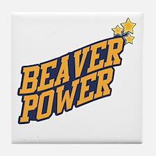Beaver Power Tile Coaster