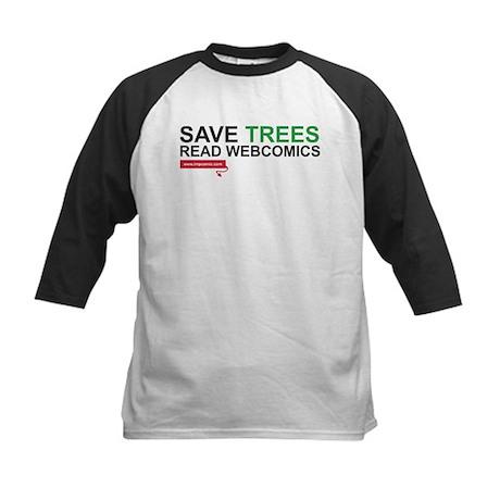 Save Trees Read Webcomics T-shirt Kids Baseball Je