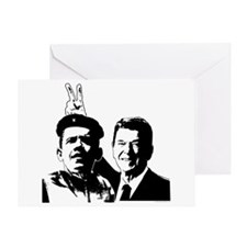 Ron Gives Obama the Rabbit Ears Greeting Card