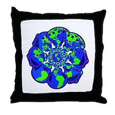 World of Cloth Throw Pillow