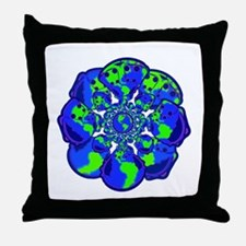 World of Cloth Throw Pillow