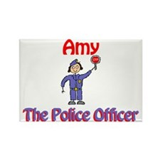 Amy - Police Officer Rectangle Magnet