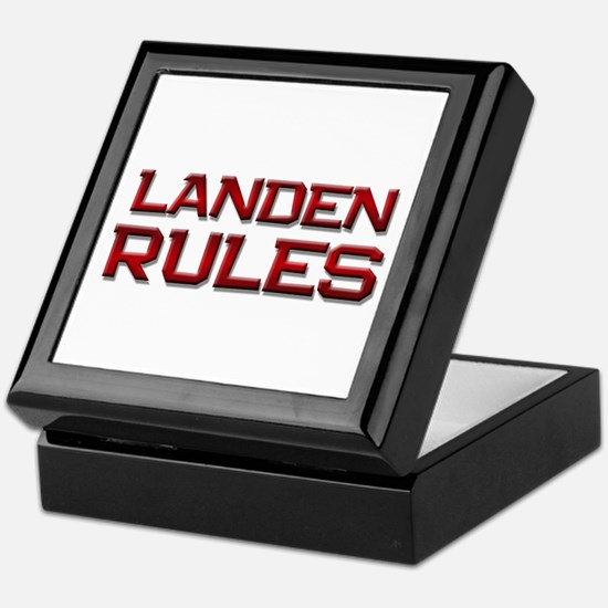 landen rules Keepsake Box