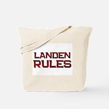 landen rules Tote Bag