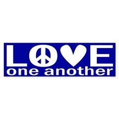 Love One Another (bumper sticker)