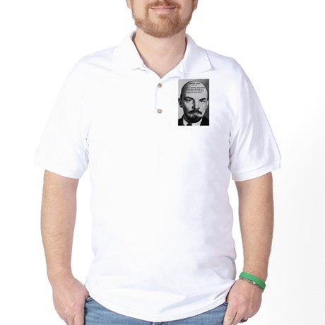 Capitalism and Lenin Golf Shirt