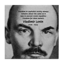 Capitalism and Lenin Tile Coaster