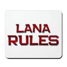lana rules Mousepad