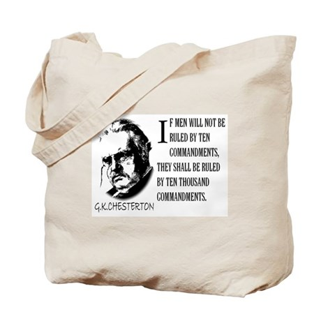 G.K.CHESTERTON AND THE TEN CO Tote Bag