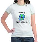 Killing the Earth Jr. Ringer T-Shirt