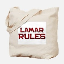 lamar rules Tote Bag