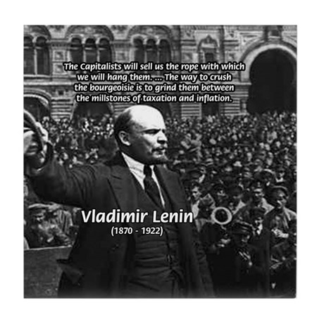 Vladimir Lenin Revolution Tile Coaster