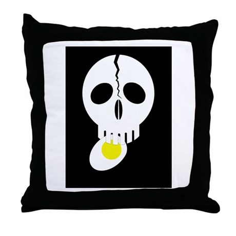 skullfood3 Throw Pillow
