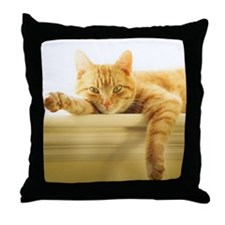 Funny Cat Throw Pillow