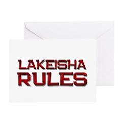 lakeisha rules Greeting Cards (Pk of 20)